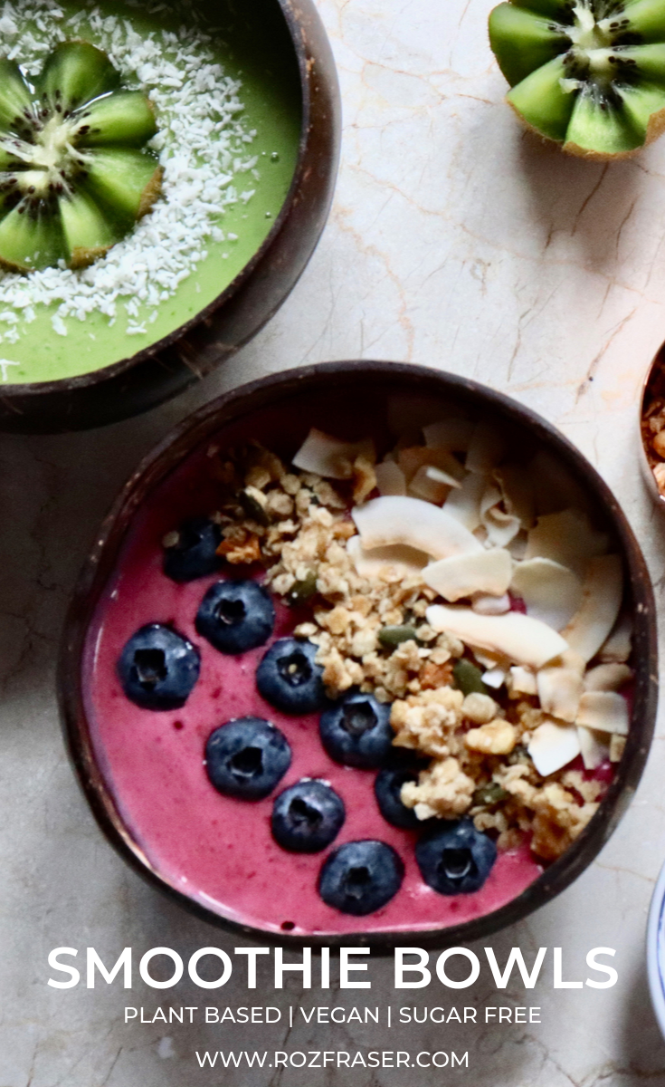 Your guide to creating delicious smoothie bowls. Perfect for a healthy breakfast. Vegetarian and vegan friendly recipe. Smoothie bowls are a great addition to a healthy diet plan.